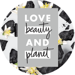 Love Beauty and Planet Charcoal Badge