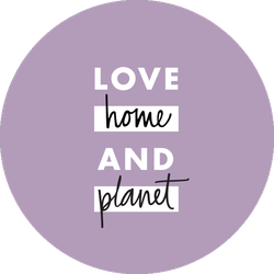 Love Home and Planet Lavender Badge