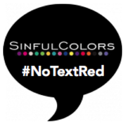 SinfulColors #NoTextRed