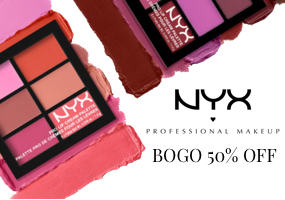 Buy 1 Get 1 50% Off all NYX Products