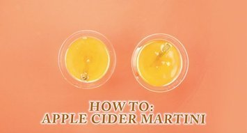 How to Make a Halloween Apple Cider Martini