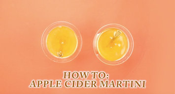 How to Make an Apple Cider Martini