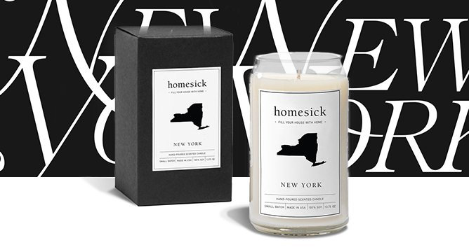 OMG. Homesick Candles Exist