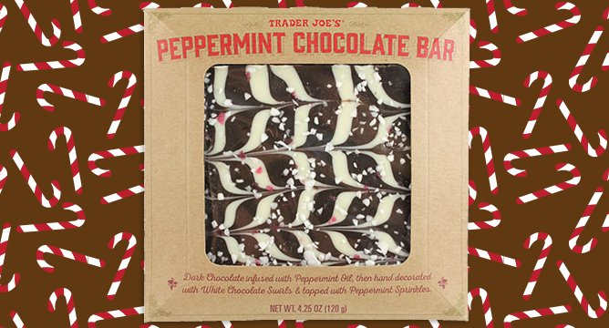 ALERT: Trader Joe's Peppermint Chocolate Bars Exist