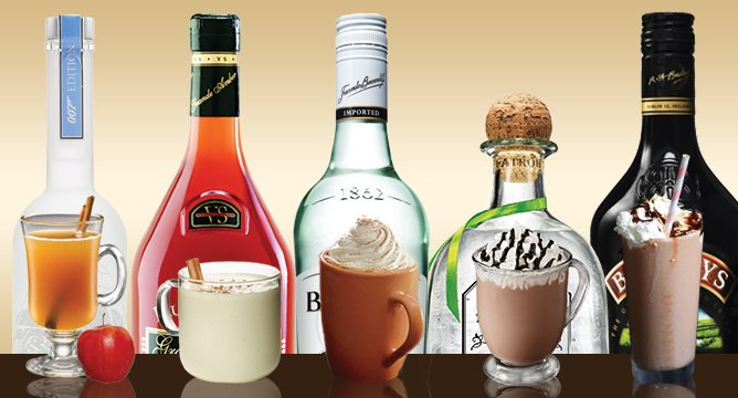 Spike Your Favorite Seasonal Drinks with Top Shelf Liquors