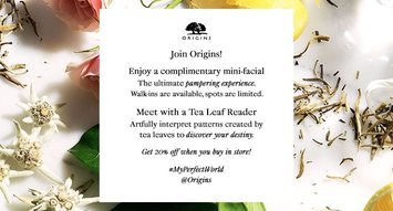 Beauty Event Alert! Add the Origins #MyPerfectWorld Event to Your Calendars