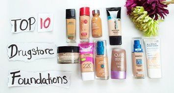 Top 10 Drugstore Foundations on Influenster