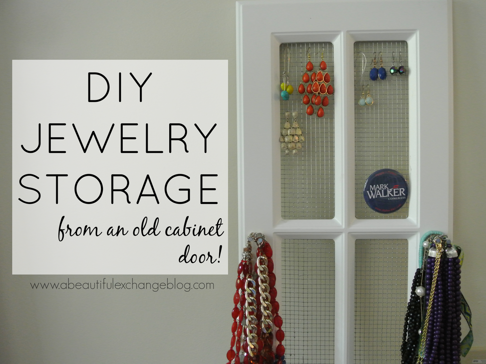 Diy Jewelry Cabinet Jewelry Storage Diy Interior Design Decor