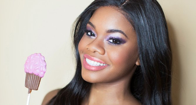 Gabby Douglas's New Lip Gloss Is Definitely A Winner