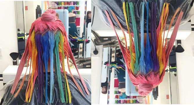 Insta Trend: Hidden Rainbow Hair