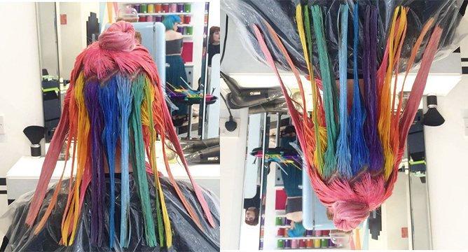 Insta Trend: Hidden Rainbow Hair