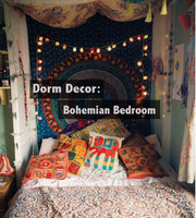 Dorm Decor: Bohemian Bedroom for $200!