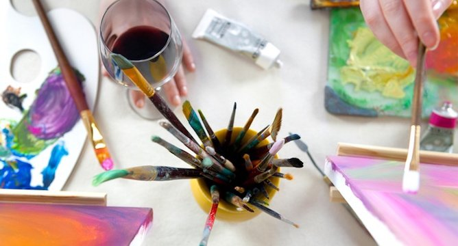How To Throw A Wine & Paint Party At Home