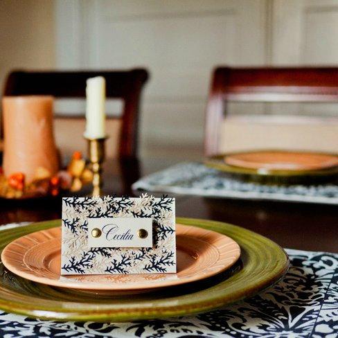 DIY Autumn Leaf Place Cards