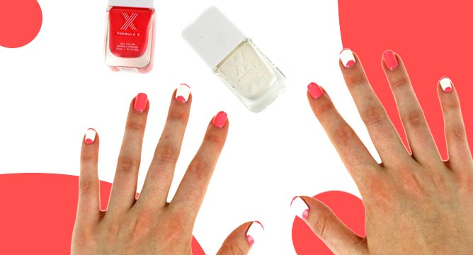 DIY a Color-Blocked Mani at Home