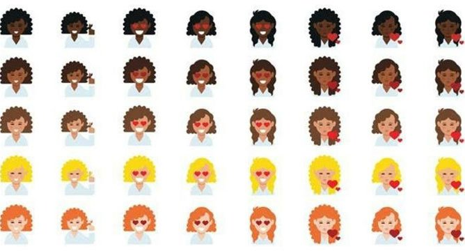 INCOMING! The Dove #LoveYourCurls Emoji Keyboard