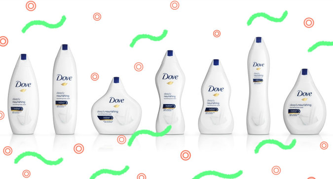 Whoa—Dove's New Bottles Look Like Bodies
