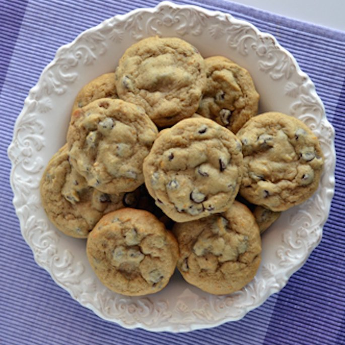 Earl Grey & Orange Zest Chocolate Chip Cookies