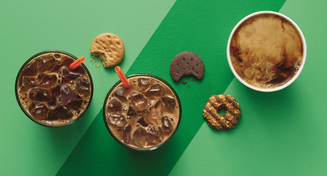 Dunkin' Donuts Has Girl Scout Cookies Coffee