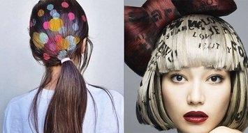 Insta Trend: Hair Stenciling