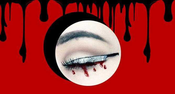 How To: Halloween-Perfect Knife Eyeliner