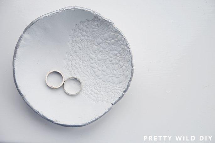 DIY: Lace Print Bowl