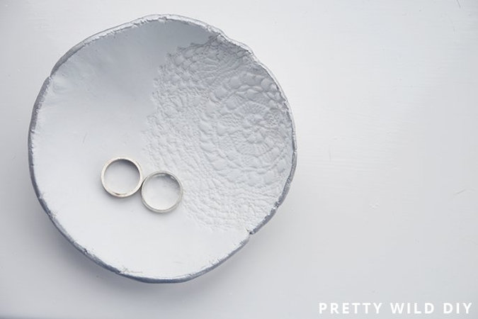 DIY: Lace Print Bowl