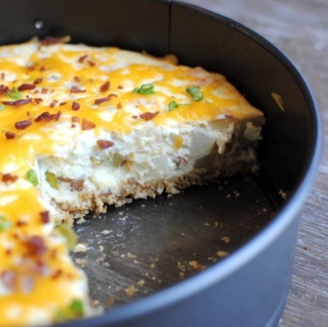 Thanksgiving Dinner Inspo: Loaded Potato Cheesecake