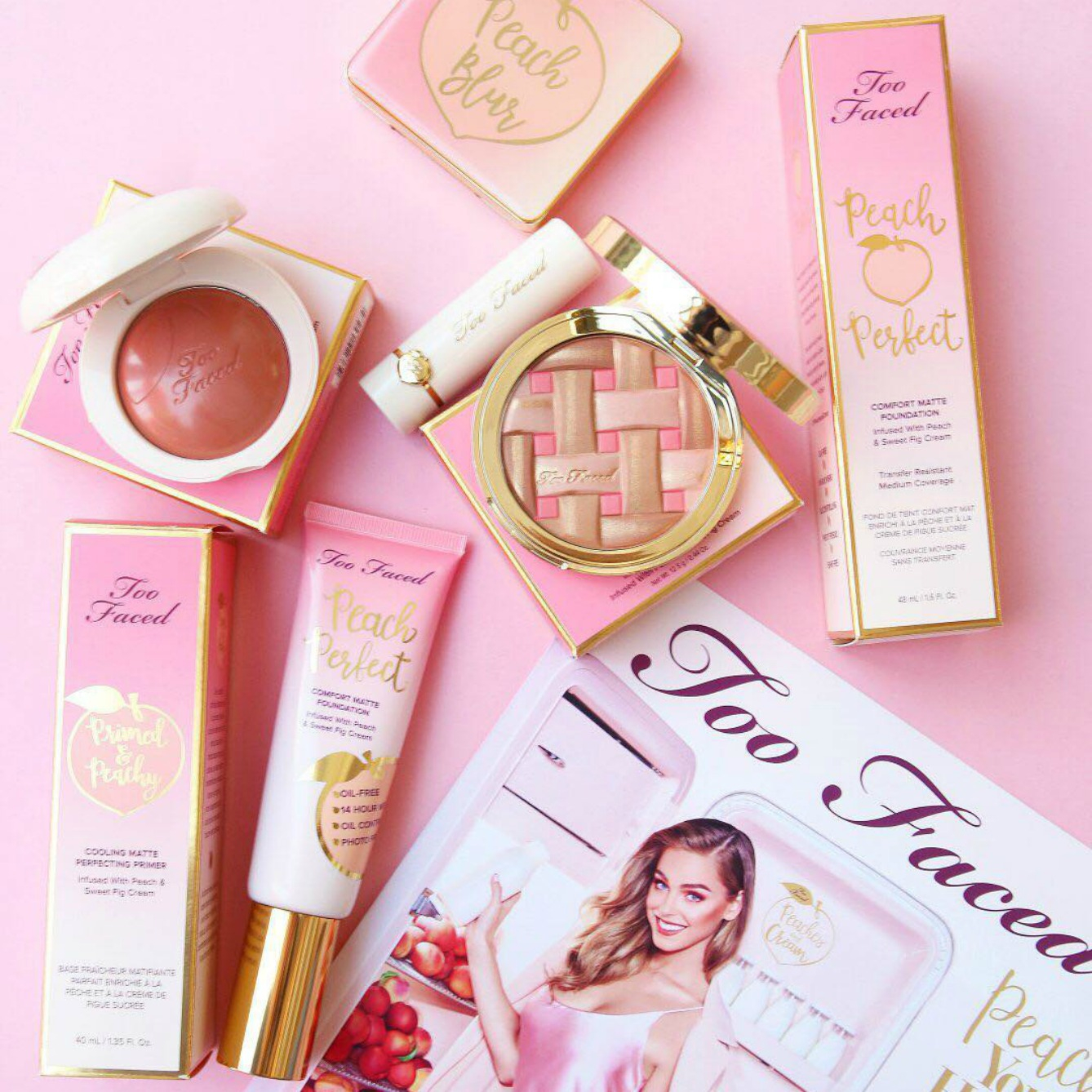 See All The New Too Faced Peaches & Cream Goodies