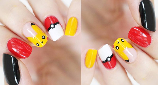 Pokemon Go-Themed Nail Art For Your Next Manicure