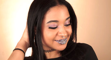 Next Level Rhinestone Lip Art