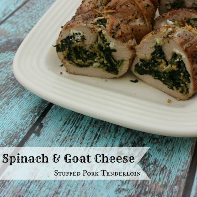 Thanksgiving Inspo: Spinach & Goat Cheese Stuffed Pork Tenderloin