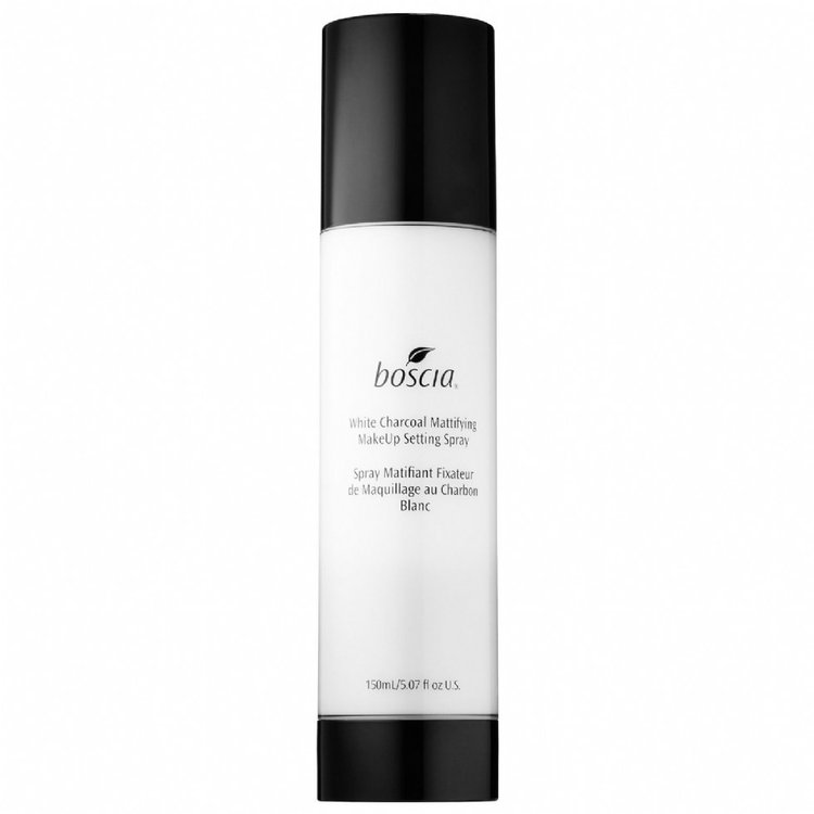 Slide: boscia White Charcoal Mattifying MakeUp Setting Spray 5.07 oz/ 150 mL