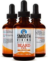 Smooth Viking Beard Oil for Men Use with Balm & Conditioner for the Best Facial Hair Grooming Kit