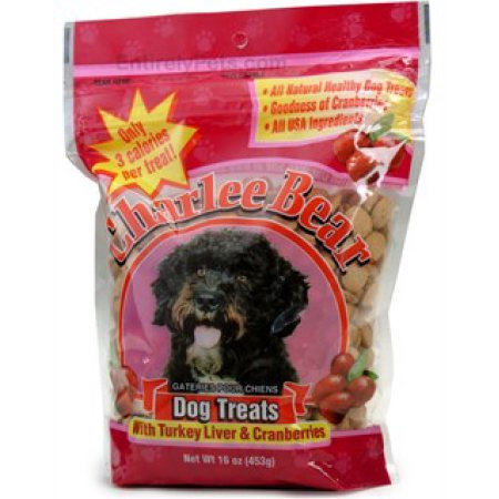 Slide: Charlee Bear Dog Treats with Turkey Liver & Cranberries