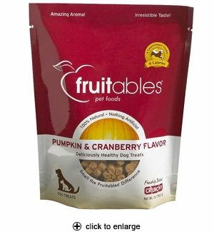Slide: Fruitables Pumpkin & Cranberry Dog Treats, 7 oz