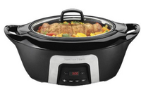 Hamilton Beach Programmable Insulated Slow Cooker - Black (6 Quart)