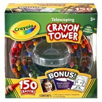 Crayola 150-Count Telescoping Crayon Tower