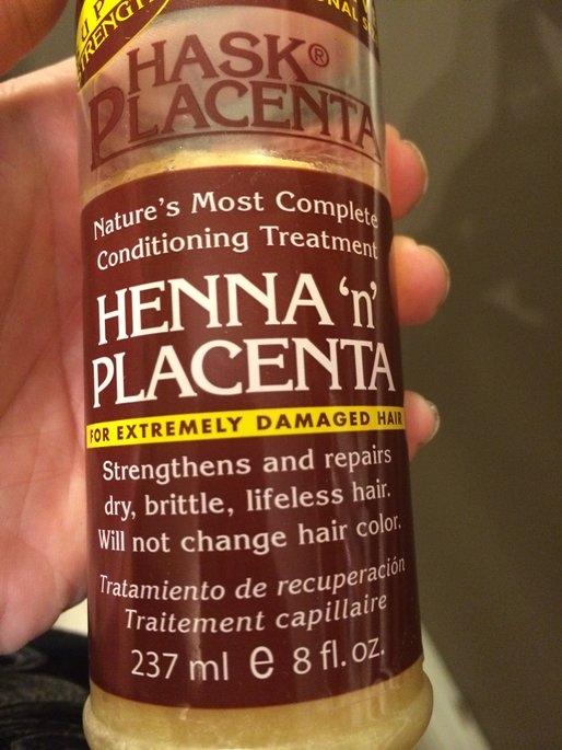 Hask Placenta Henna 'n' Placenta for Extremely Damaged Hair 237ml/8oz uploaded by Nikki K.