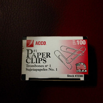 Photo of Acco Brands Acc-72380 Acco Economy Paper Clips - Standard Regular - Steel Tin - 1000 / Pack - Silver (acc72380) uploaded by Nka k.