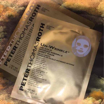Photo of Peter Thomas Roth Un-Wrinkle(TM) 24k Gold Intense Wrinkle Sheet Mask uploaded by Kendra B.
