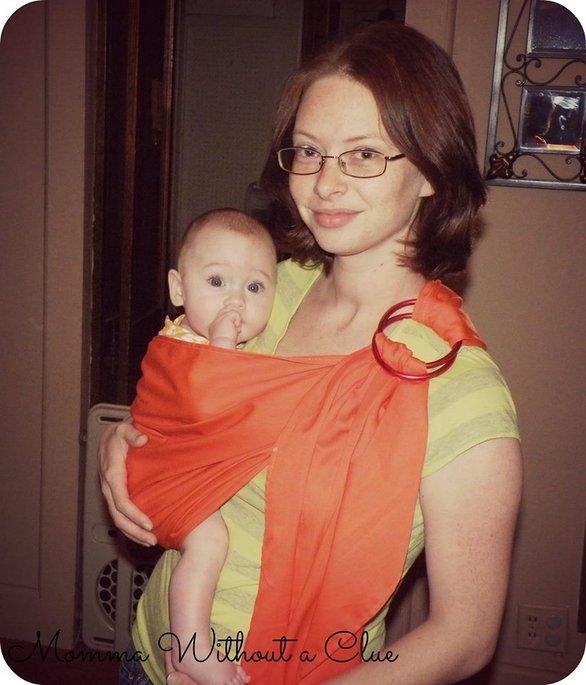 Rockin Baby The Orange Hero Baby Carrier uploaded by Jamie K.