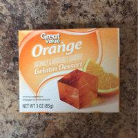 Great Value: Orange Gelatin Dessert, 3 Oz uploaded by Miranda F.