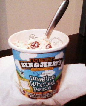 Ben & Jerry's All Natural Vermont's Finest Imagine Whirled Peace Ice Cream uploaded by Kristen B.