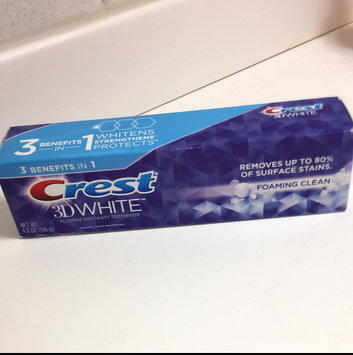 Photo of Crest 3D White Foaming Clean Whitening Toothpaste, 4.8 oz uploaded by Jennifer H.