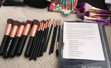 Photo of BS-MALL(TM) Premium Synthetic Kabuki Makeup Brush Set Cosmetics Foundation Blending Blush Eyeliner Face Powder Brush Makeup Brush Kit uploaded by Dawn F.