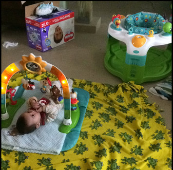 Photo of Bright Starts 2-in-1 Laugh & Lights Activity Gym & Saucer, Tan uploaded by Jarielly S.