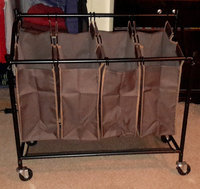 Threshold Brown Linen Quad Front Load Laundry Sorter uploaded by Charnita F.