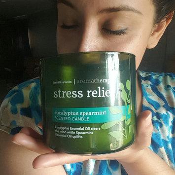 Photo of Bath & Body Works® Aromatherapy STRESS RELIEF - EUCALYPTUS & SPEARMINT 3-Wick Candle uploaded by Gia R.