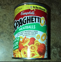 Campbell's SpaghettiOs Meatballs Pasta with Pork Chicken and Beef in Tomato Sauce uploaded by Crystal G.